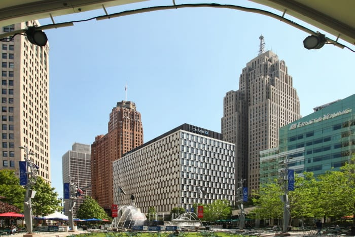 Downtown Detroit buildings, Michigan