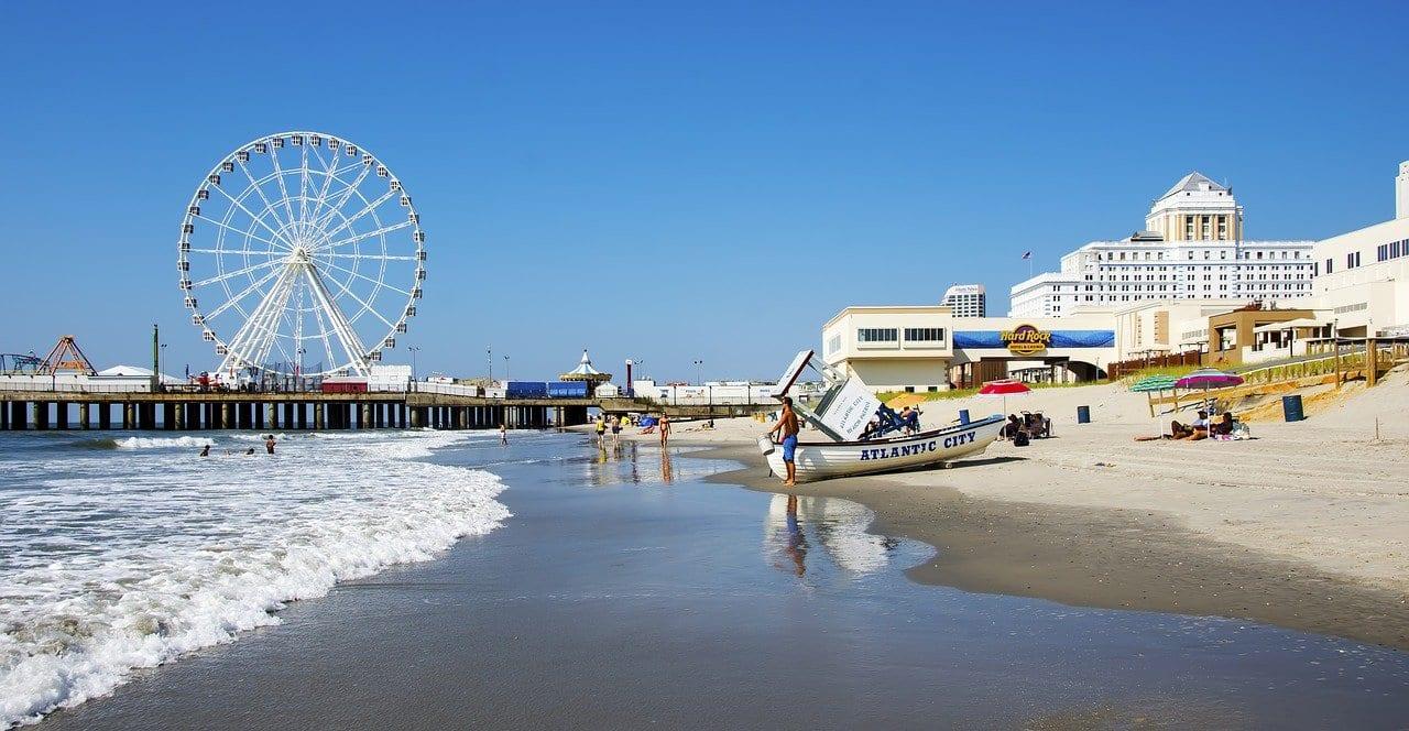 Atlantic City shoreline, New Jersey